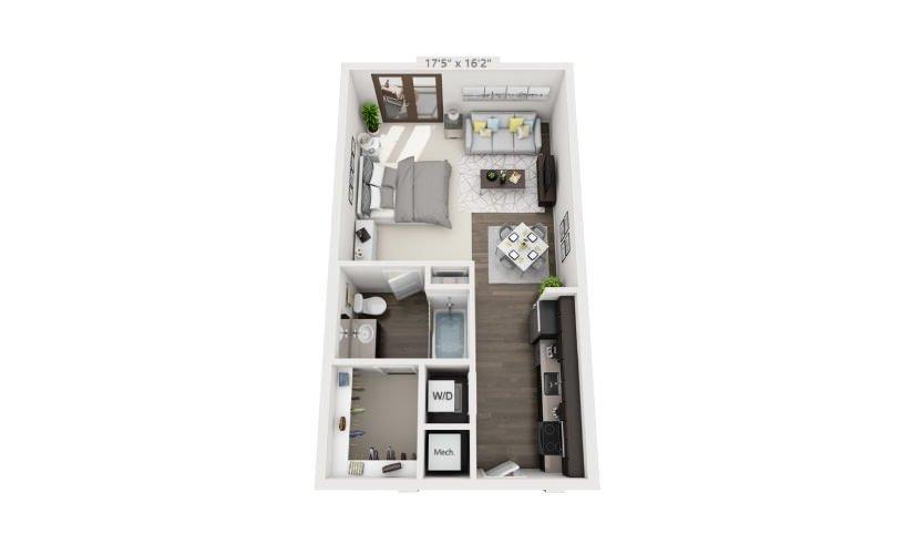 Studio 1 Bathroom Apartment for rent at Groves South Lamar in Austin, TX