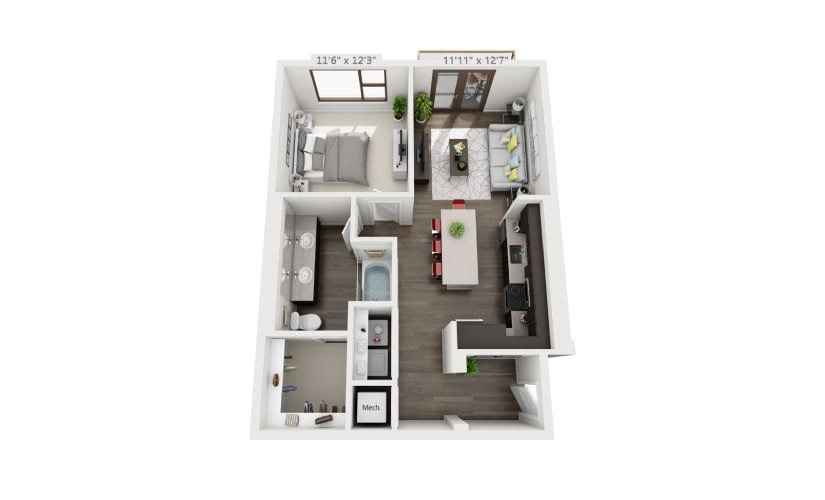 1 Bedroom 1 Bathroom Apartment for rent at Groves South Lamar in Austin, TX