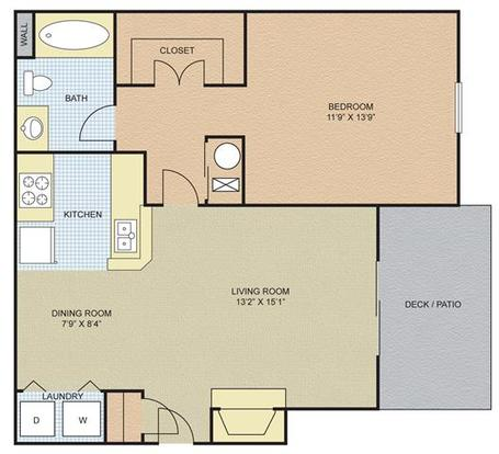 1 Bedroom 1 Bathroom Apartment for rent at The Bradford At Easton in Columbus, OH
