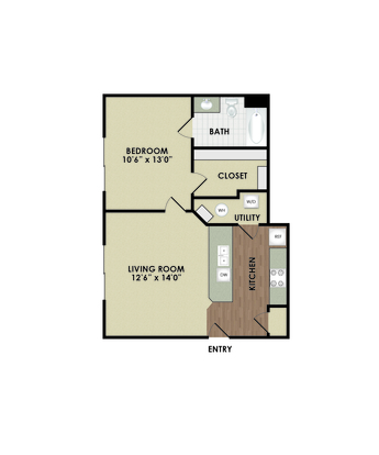 1 Bedroom 1 Bathroom Apartment for rent at Central Park in Columbus, OH