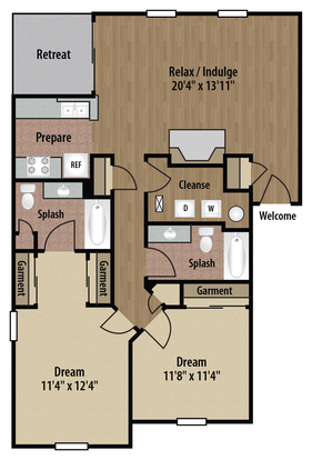 2 Bedrooms 2 Bathrooms Apartment for rent at The Bradford At Easton in Columbus, OH