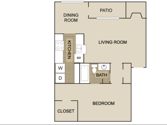 1 Bedroom 1 Bathroom Apartment for rent at Lexington on the Green in Raleigh, NC