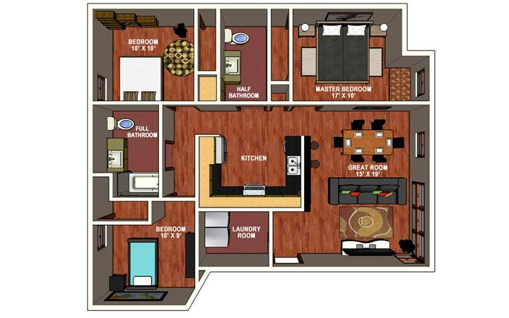 3 Bedrooms 2 Bathrooms Apartment for rent at The Jax in Corvallis, OR