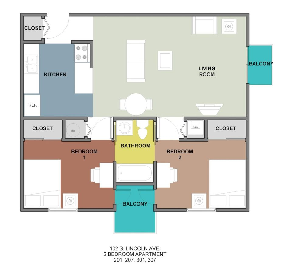 2 Bedrooms 1 Bathroom Apartment for rent at Horizon in Champaign, IL