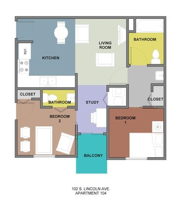 2 Bedrooms 2 Bathrooms Apartment for rent at Horizon in Champaign, IL