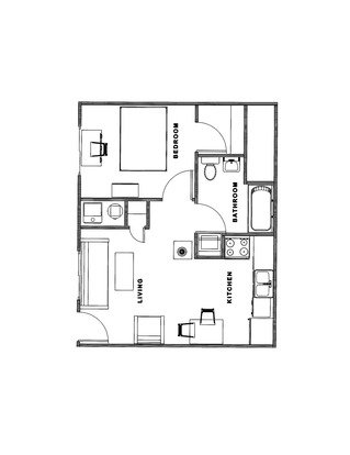 1 Bedroom 1 Bathroom Apartment for rent at 808 W. Illinois St. in Champaign, IL