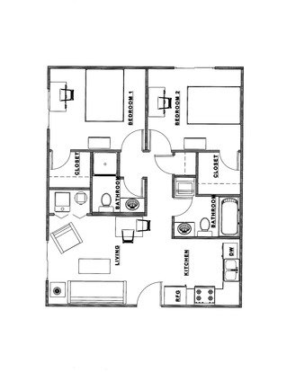 2 Bedrooms 2 Bathrooms Apartment for rent at 808 W. Illinois St. in Champaign, IL
