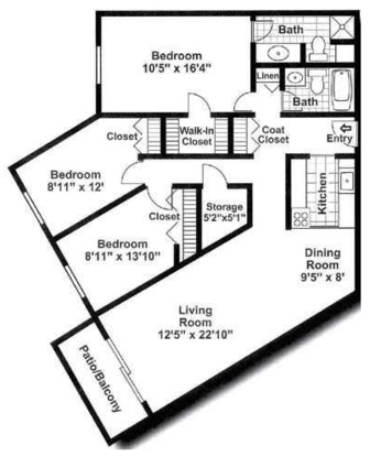 3 Bedrooms 2 Bathrooms Apartment for rent at Stone Grove Apartments in Burnsville, MN