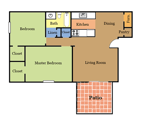 2 Bedrooms 1 Bathroom Apartment for rent at Suson Pines Apartments in St Louis, MO