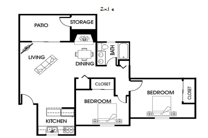 2 Bedrooms 1 Bathroom Apartment for rent at Ramblewood Apartments in Fort Collins, CO