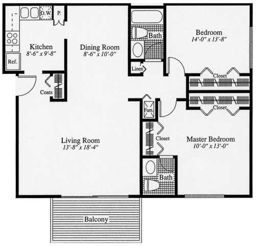 2 Bedrooms 1 Bathroom Apartment for rent at Camelot Place Apartments in Saginaw, MI