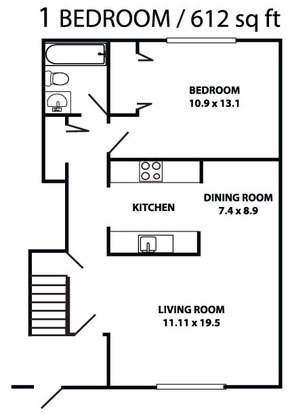 1 Bedroom 1 Bathroom Apartment for rent at Heritage Knoll in Dayton, OH