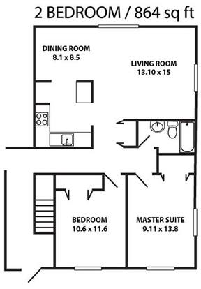 2 Bedrooms 1 Bathroom Apartment for rent at Heritage Knoll in Dayton, OH