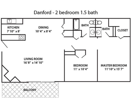 2 Bedrooms 1 Bathroom Apartment for rent at Stonebridge Apartment Homes in Dayton, OH