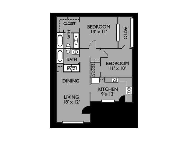 2 Bedrooms 2 Bathrooms Apartment for rent at Valley Oaks in Hurst, TX
