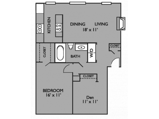 2 Bedrooms 1 Bathroom Apartment for rent at Valley Oaks in Hurst, TX