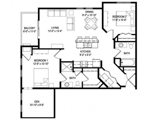 2 Bedrooms 2 Bathrooms Apartment for rent at The West End in Verona, WI
