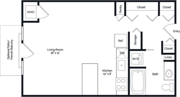 Studio 1 Bathroom Apartment for rent at Lake Calhoun Flats in Minneapolis, MN