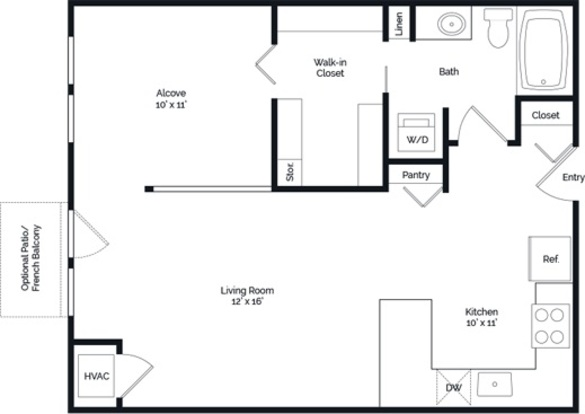 1 Bedroom 1 Bathroom Apartment for rent at Lake Calhoun Flats in Minneapolis, MN