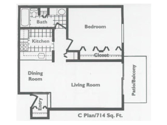 1 Bedroom 1 Bathroom Apartment for rent at Emerald Pointe Apartments in Vernon Hills, IL