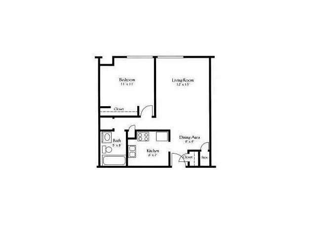 1 Bedroom 1 Bathroom Apartment for rent at Pine Crossing Apartments in Columbus, OH