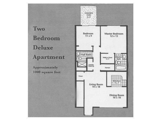 2 Bedrooms 2 Bathrooms Apartment for rent at Southwoods Apartments in St Louis, MO