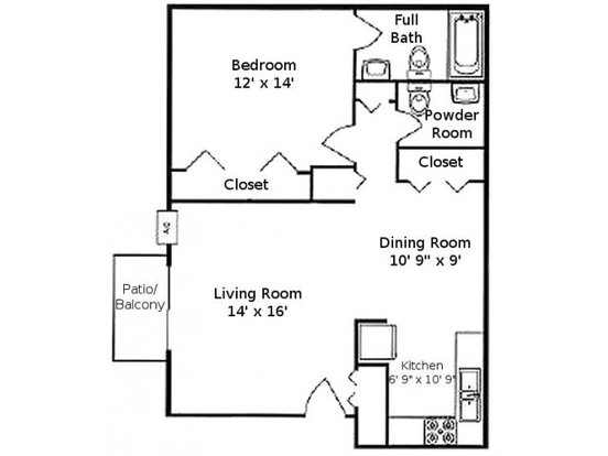 1 Bedroom 1 Bathroom Apartment for rent at The Greenway At Carol Stream in Carol Stream, IL