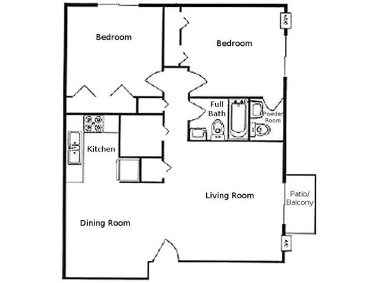 2 Bedrooms 1 Bathroom Apartment for rent at The Greenway At Carol Stream in Carol Stream, IL