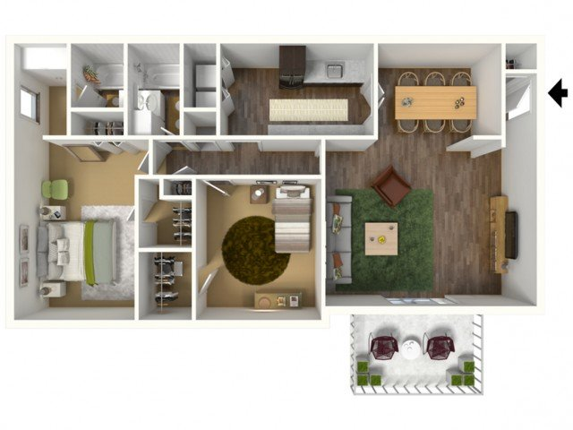 2 Bedrooms 2 Bathrooms Apartment for rent at Rainbow Forest in Decatur, GA