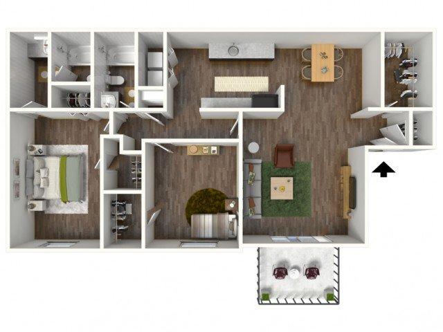 2 Bedrooms 2 Bathrooms Apartment for rent at Ivy Ridge in Marietta, GA