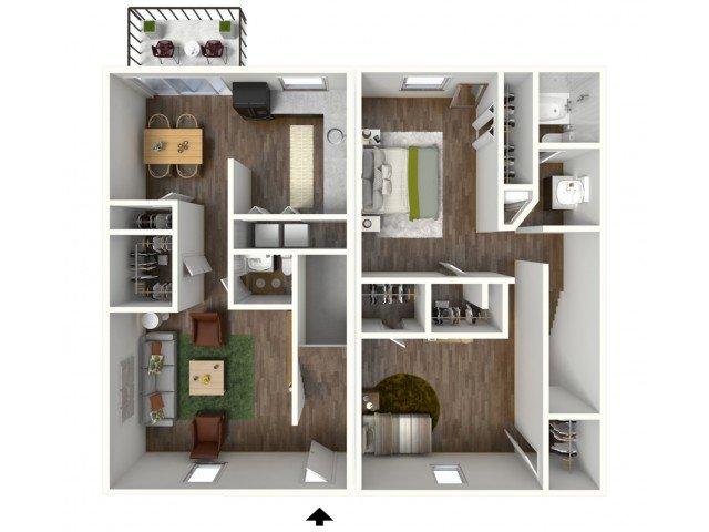 2 Bedrooms 1 Bathroom Apartment for rent at Ivy Ridge in Marietta, GA