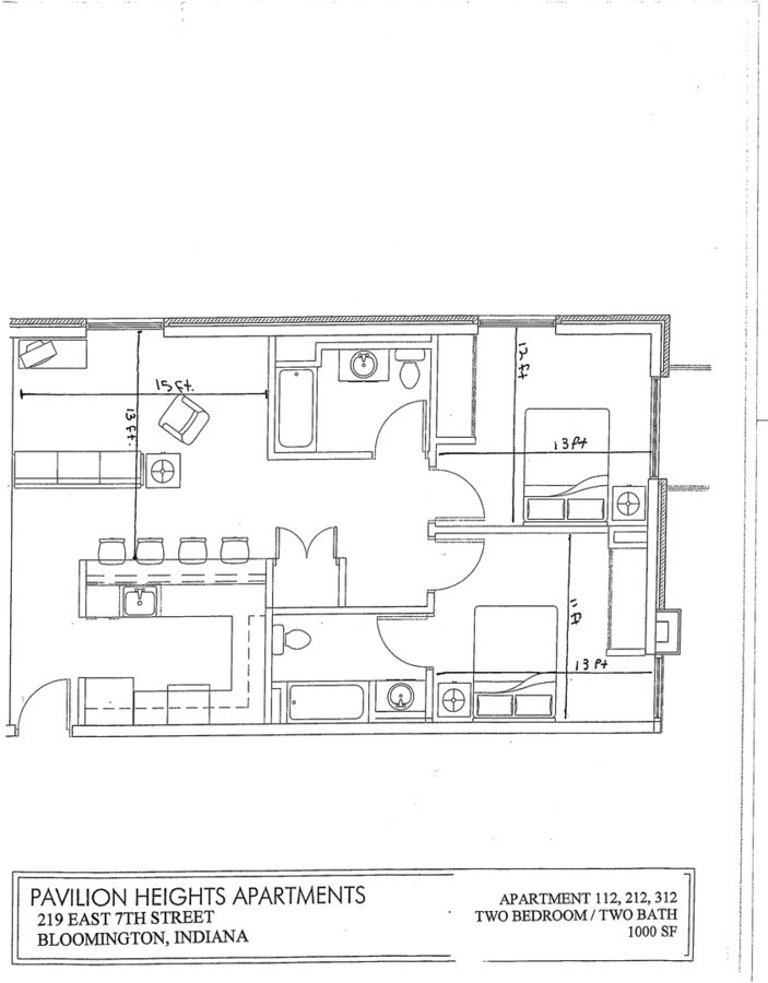 2 Bedrooms 2 Bathrooms Apartment for rent at 219 E. 7th St in Bloomington, IN