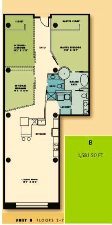 2 Bedrooms 2 Bathrooms Apartment for rent at The Bogen Lofts in St Louis, MO