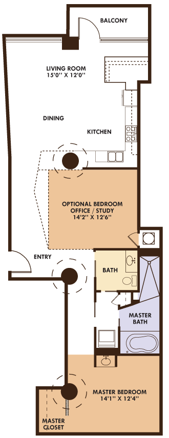 1 Bedroom 1 Bathroom Apartment for rent at Ventana Lofts in St Louis, MO