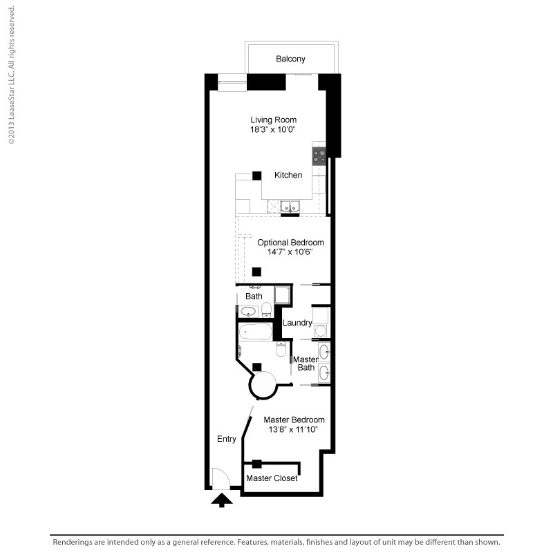1 Bedroom 1 Bathroom Apartment for rent at Bogen Lofts in St Louis, MO