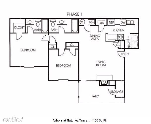 2 Bedrooms 2 Bathrooms Apartment for rent at Arbors At Natchez Trace in Ridgeland, MS