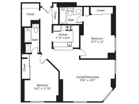 2 Bedrooms 2 Bathrooms Apartment for rent at Symphony Place in Minneapolis, MN