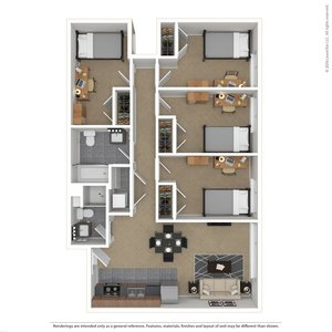 4 Bedrooms 2 Bathrooms Apartment for rent at Skybox - Courtside in Eugene, OR