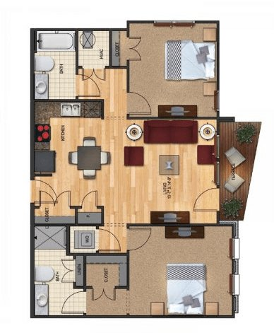 2 Bedrooms 2 Bathrooms Apartment for rent at The Vyne On Central in Charlotte, NC