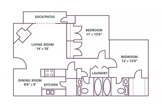2 Bedrooms 2 Bathrooms Apartment for rent at Sharonridge Apartments in Charlotte, NC