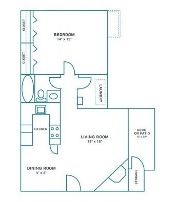 1 Bedroom 1 Bathroom Apartment for rent at The Landing On Farmhurst in Charlotte, NC