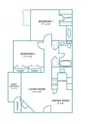 2 Bedrooms 1 Bathroom Apartment for rent at The Landing On Farmhurst in Charlotte, NC
