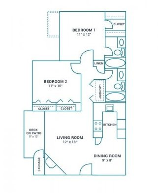 2 Bedrooms 2 Bathrooms Apartment for rent at The Landing On Farmhurst in Charlotte, NC