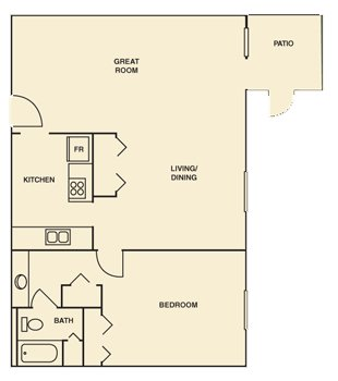 1 Bedroom 1 Bathroom Apartment for rent at Hampton Woods in Columbus, OH