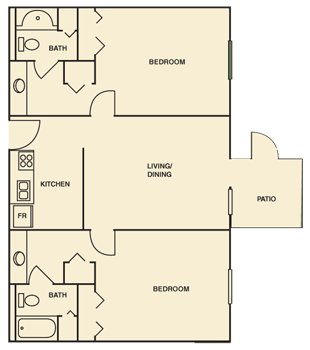2 Bedrooms 2 Bathrooms Apartment for rent at Hampton Woods in Columbus, OH