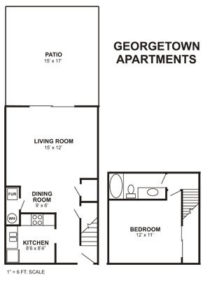 1 Bedroom 1 Bathroom Apartment for rent at Georgetown Apartments in Columbus, OH