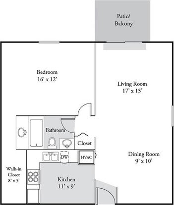 1 Bedroom 1 Bathroom Apartment for rent at Plainview Apartments in Louisville, KY