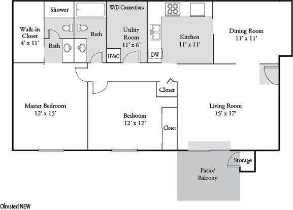 2 Bedrooms 2 Bathrooms Apartment for rent at Plainview Apartments in Louisville, KY