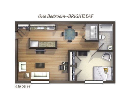 1 Bedroom 1 Bathroom Apartment for rent at University Commons in Durham, NC