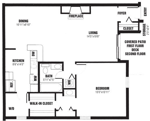 1 Bedroom 1 Bathroom Apartment for rent at The Willows in Louisville, KY